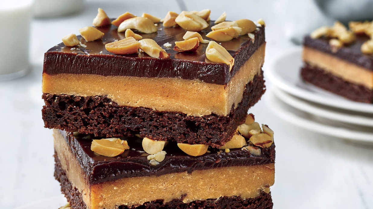 Chocolate Peanut Butter-Fudge Bars Recipe