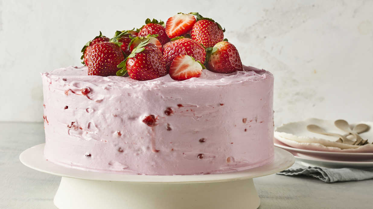 Strawberry Lemonade Layer Cake Recipe Southern Living