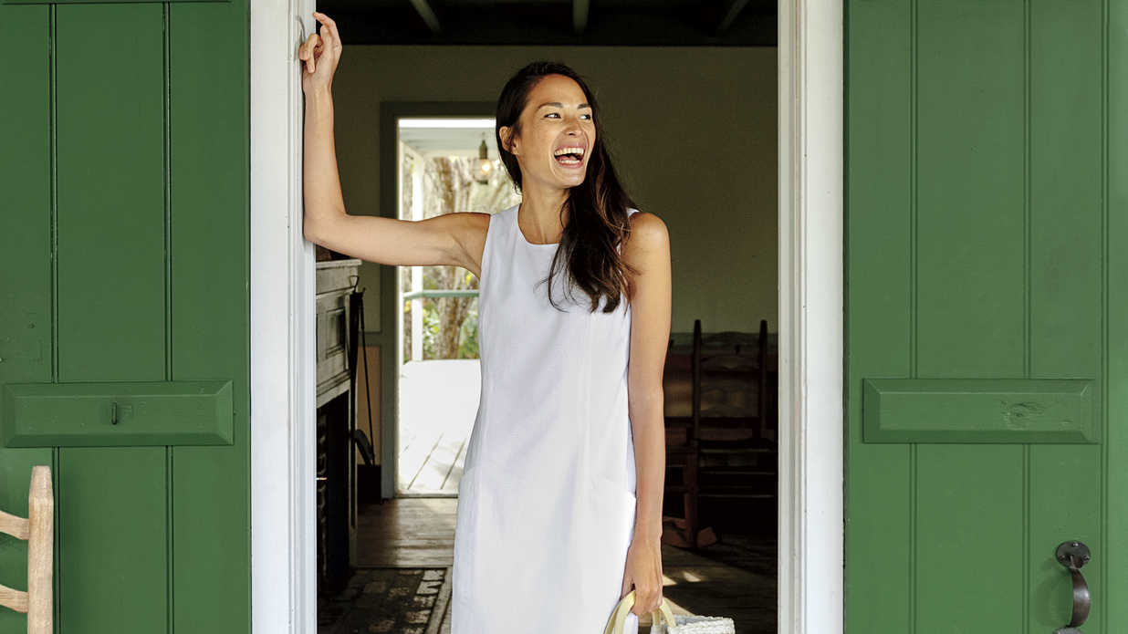 The Classic White Shift Dress Will Always be a Southern Staple