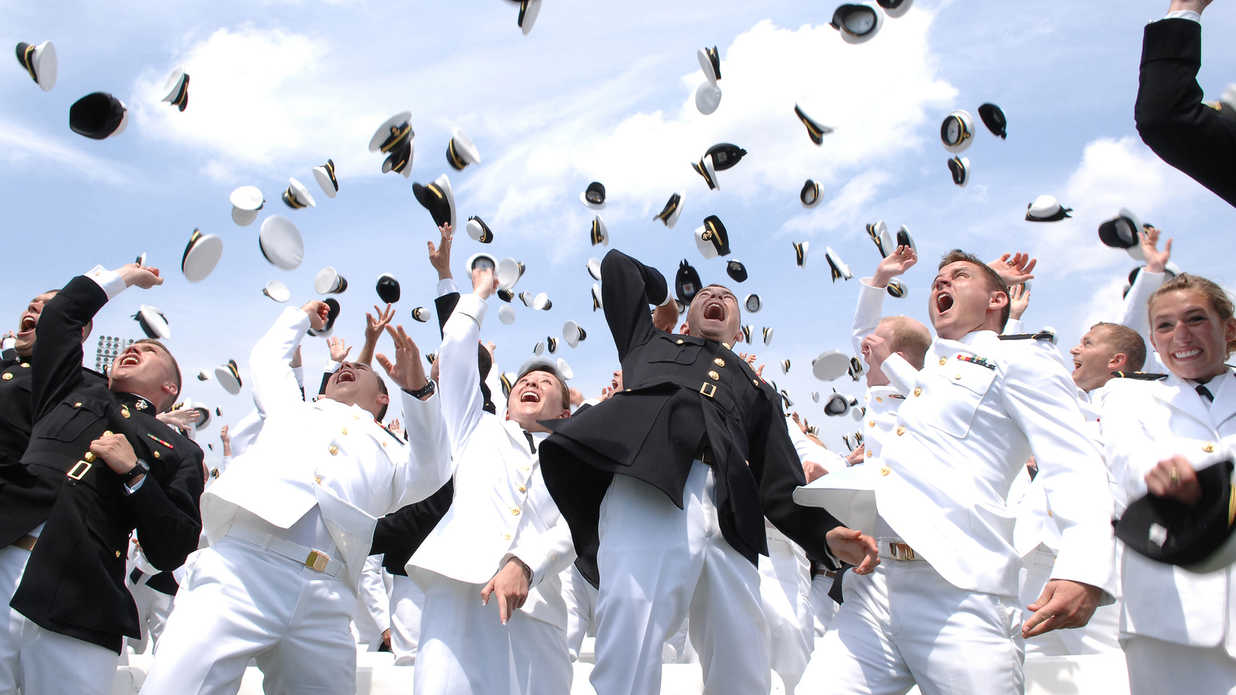 The Navy Academy Hat Toss Has Lots of Tradition - Southern