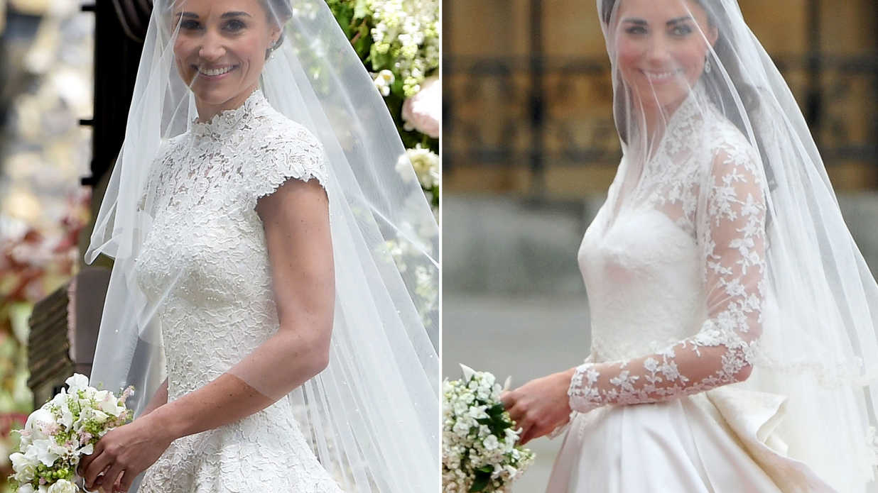 A Side-by-Side Comparison of Kate and Pippa's Weddings