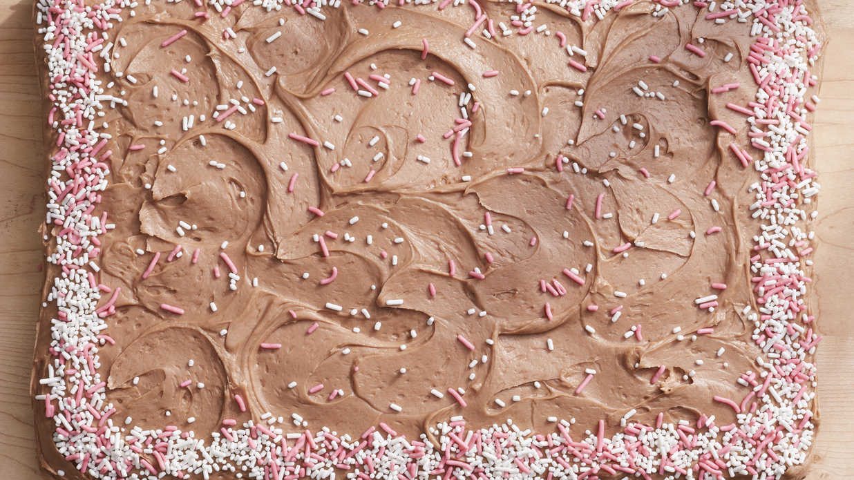 Chocolate Fudge Sheet Cake With Chocolate-Cream Cheese Frosting Recipe