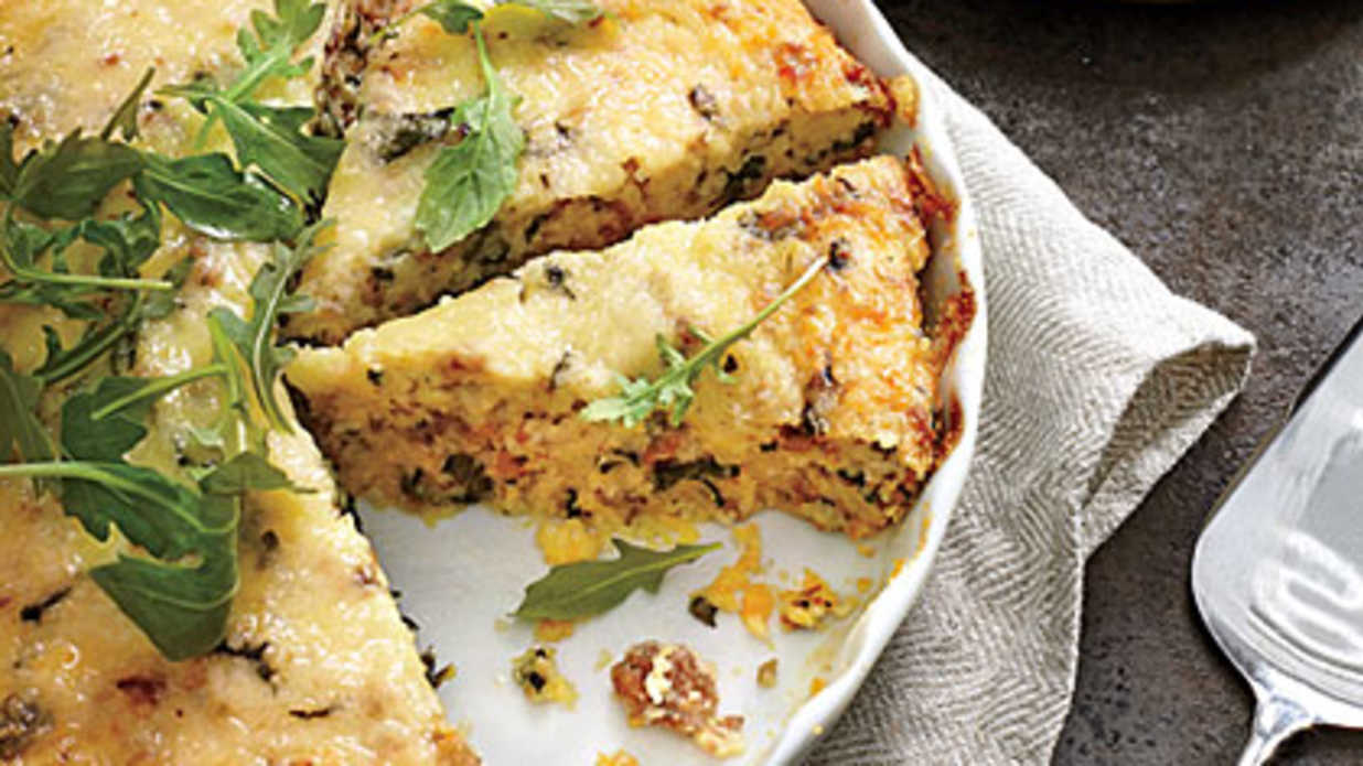 Sausage-and-Grits Quiche Recipe