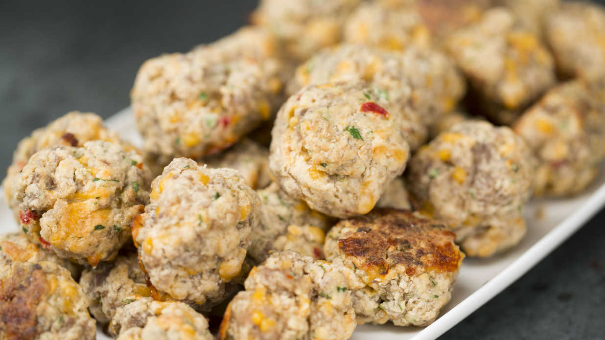 Spicy Pimiento Cheese Sausage Balls
