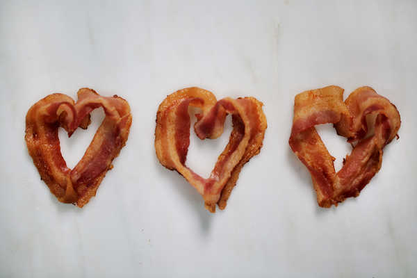 Heart-Shaped Bacon