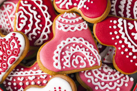 Valentine's Day cookies.