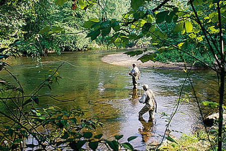 Fly Fishing; Helen, Georgia