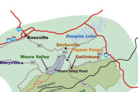 An illustrated map of the Smokies