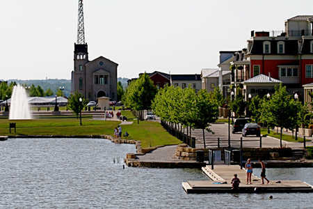 new town at st charles st louis missouri