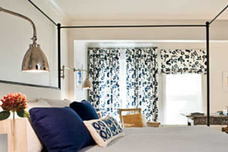 Blue and White Bedrooms