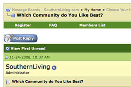 Home Giveaway Message Board