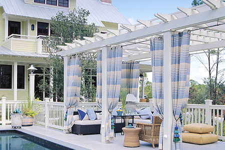 Poolside seating