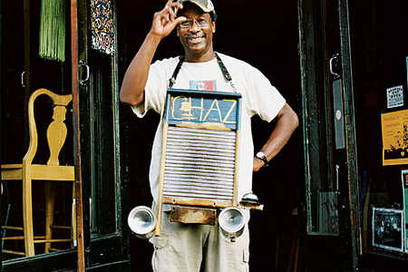 New Orleans Jazz Musician:  Washboard  Chaz Leary
