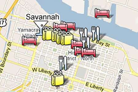 Savannah Travel Map