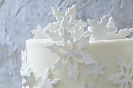 Fondant Snowflakes Garnish