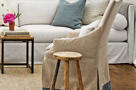Palmetto Buff How to Soften Space with Rugs