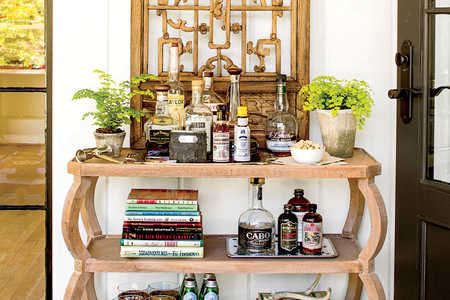 3-Shelf Bar Console