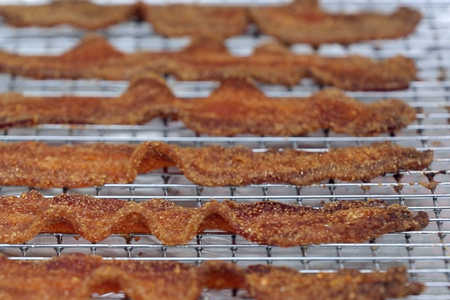 Southwest Cornmeal Candied Bacon