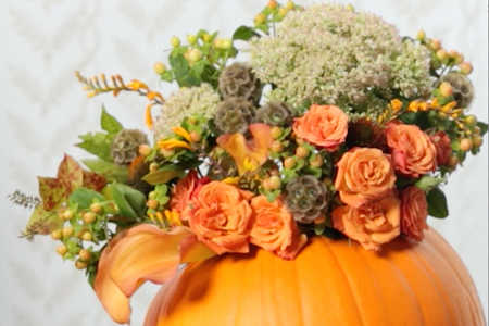 Fall Pumpkin Centerpiece Video Image
