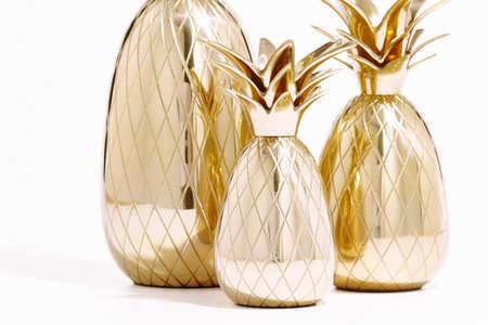 Emily McCarthy Brass Pineapple Candle Holders