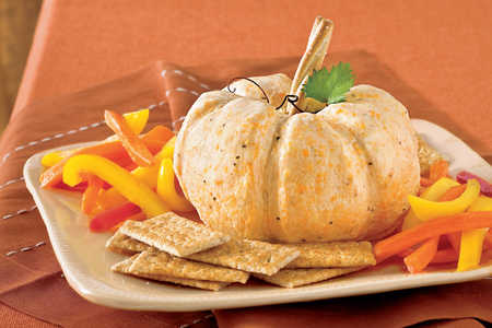 The Great White Pumpkin Cheese Ball