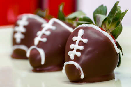 Chocolate Strawberry Footballs