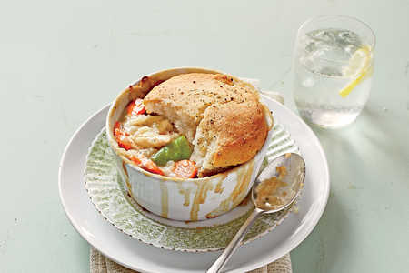 Easy Biscuit Topped Chicken Pot Pie