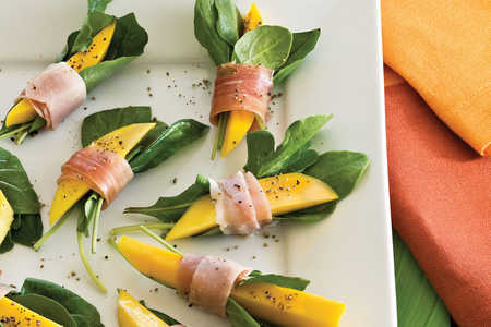 107 quick and easy dinner recipes southern living healthy food recipe prosciutto wrapped mango bites forumfinder Images