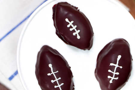 Football-Shaped Cookie Dough Bites