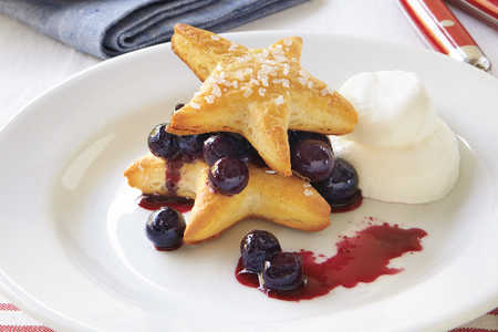 Fourth of July Menu: Blueberry Cobbler with Sugared Star Shortcakes