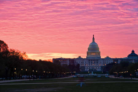picture of united states capitol building at sunrise