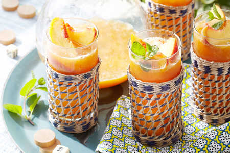 Frozen Peach Old Fashioned