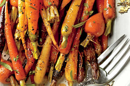 Orange-Ginger-Chile-Glazed Carrots