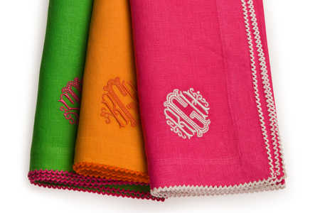 Summer Entertaining Essentials: Monogrammed Napkins by Daisy Hill