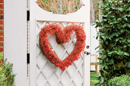 Nandina Heart Shaped Wreath