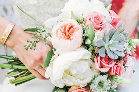 Floral and Succulent Bouquet
