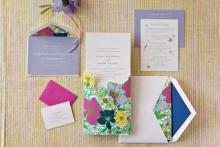 Colorful Floral Invitations