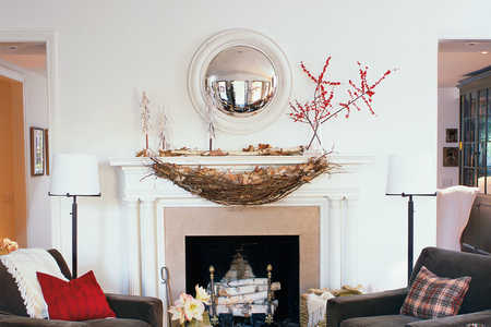 Christmas Decorating Ideas: Mantel Swag