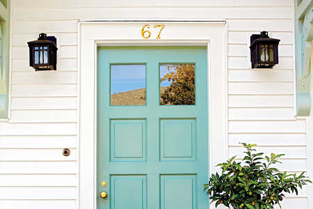 Charleston Light Teal Front Door