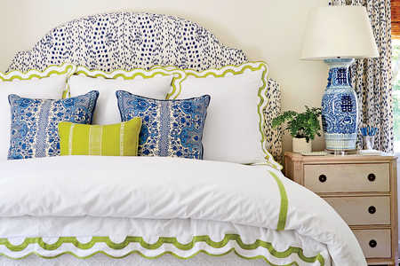 Blue and Green Master Bedroom