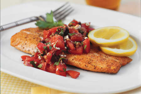 Pan-Seared Trout with Italian-Style Salsa