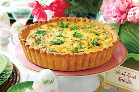 Asparagus, Spring Onion, and Feta Quiche