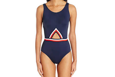 Tommy Hilfiger Navy Cut-Out One Piece