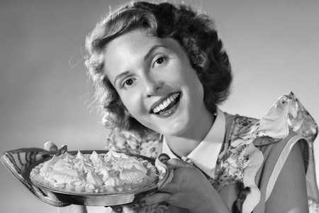 Woman Holding Baked Pie