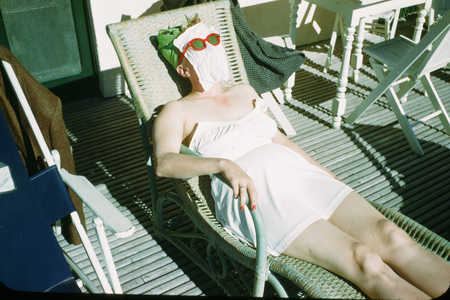 woman sunbathing