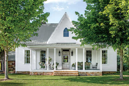 Restored White Farmhouse