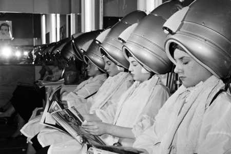 Women Under Hairdryers