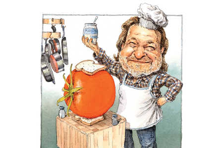 Rick Bragg Making Tomato Sandwich
