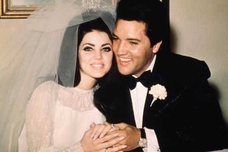 Priscilla and Elvis Presley Wedding Day Photo