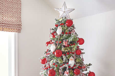 Red and White Small Christmas Tree